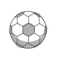 monochrome silhouette soccer ball element sport vector image