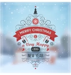 New Year Winter holidays landscape Merry vector image