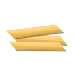 penne rigate pasta mockup realistic style vector image