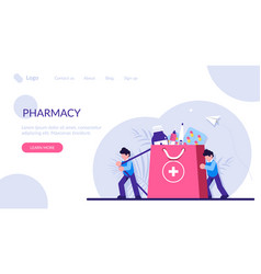 People bought a complete package medicines vector