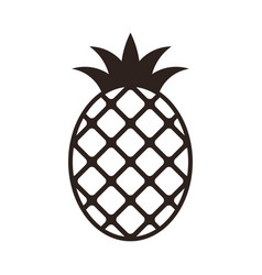 pineapple icon isolated on white background vector image