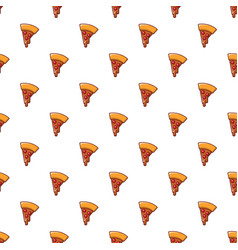 Pizza slice pattern seamless vector