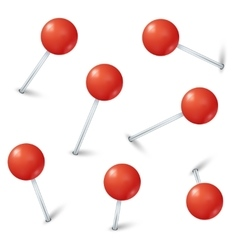 Red map pin markers collection vector