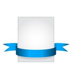 ribbon1 vector image