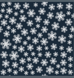 seamless art pattern with snowflakes on dark blue vector image
