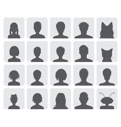 set avatars vector image