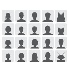 Set of avatars vector