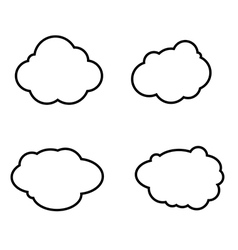 Set of clouds icons vector image