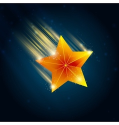 shooting star vector image