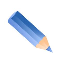 short small pencil icon blue color pencil vector image