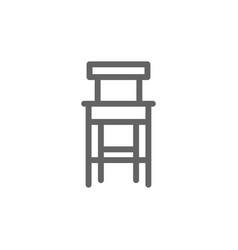 simple bar stool line icon symbol and sign vector image