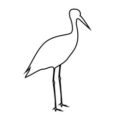 stork ciconia icon black color flat style simple vector image