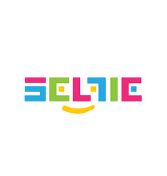 stylized color logo selfi on a white vector image