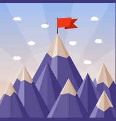 Success and leadership concept with mountain vector