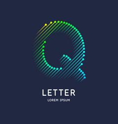 The letter q latin alphabet display vector