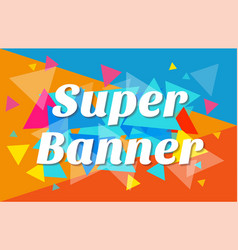 trendy flat geometric banner vector image
