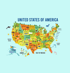 united states america flat design vector image