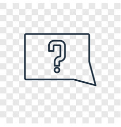 unknown topic concept linear icon isolated on vector image
