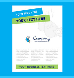 water control title page design for company vector image