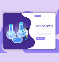Water purification isometric colored composition vector