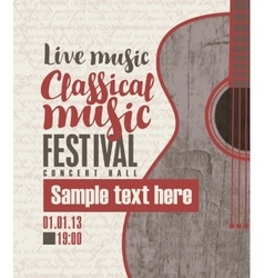 Concert of classical live music vector
