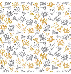 cute background seamless floral pattern in doodle vector image vector image