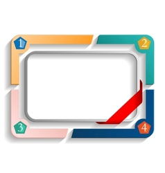 frame with numbers vector image vector image