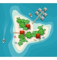Island paradise view vector image