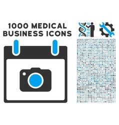 Photo Camera Calendar Day Icon With 1000 Medical vector image vector image