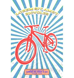 Vintage bicycle poster vector image vector image