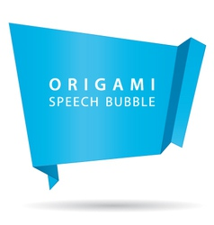 blue origami speech bubble vector image vector image