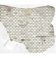 damaged wall vector image vector image