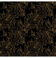 Gold seamless Fashion patterns vector image