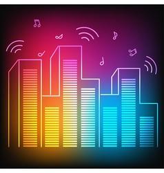 Music city vector image