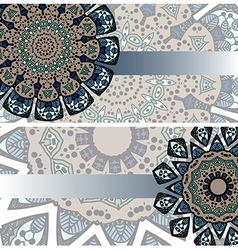 set of ethnic cards vector image
