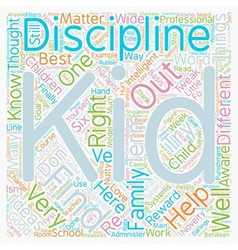 Six ideas to help you discipline your kid text vector