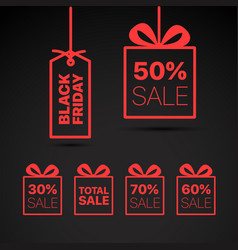 black friday label black friday sale clipart vector image vector image