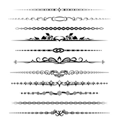 Chapter dividers set vector image