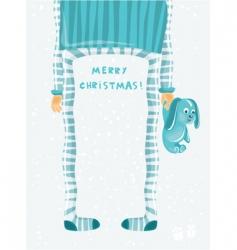 Christmas cartoon vector image vector image