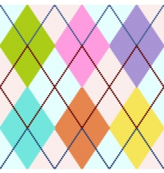 colorful argyle vector image