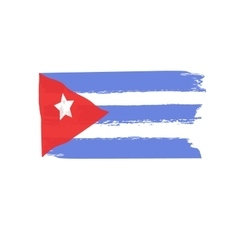 Cuban flag painted by brush hand paints Abstract vector image vector image