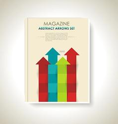 Modern brochure design with color arrows set vector