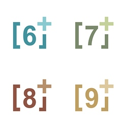 number plus figure colorful design icon vector image