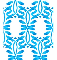 Watercolor Gzhel pattern vector image