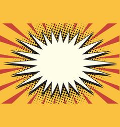 white cartoon yellow splash on pop art background vector image
