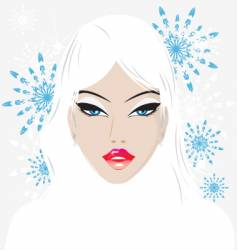winter babe vector image
