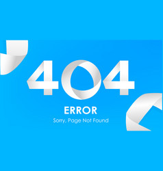 404 ribbon error page not found vector image vector image