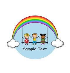 Happy childhood vector image
