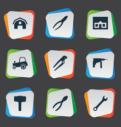 set of simple repair icons vector image