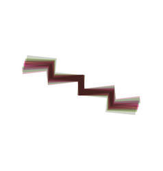 stair down sign colorful icon shaked with vector image vector image